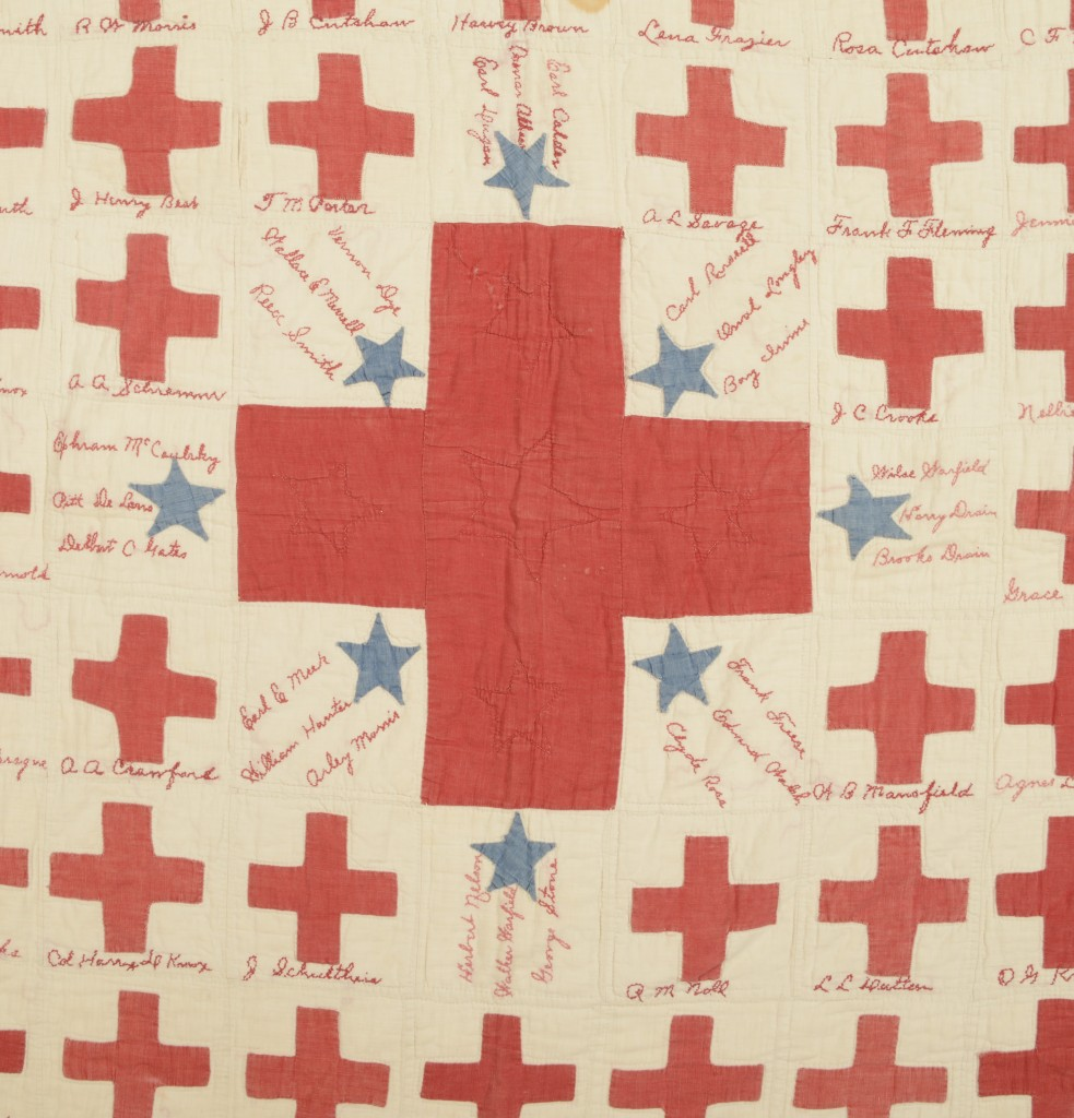 WWI Red Cross Quit Closeup